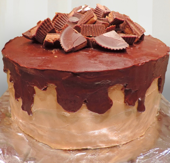 Reeses Pieces cake One Big Buttery Place
